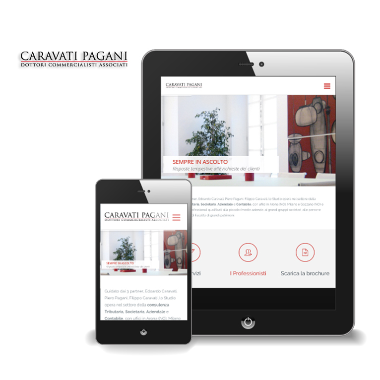 Portfolio Caravati Pagani Mobile Website - Akira Digital