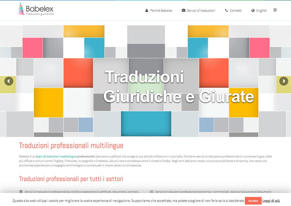 Sito Web Babelex - Akira Digital