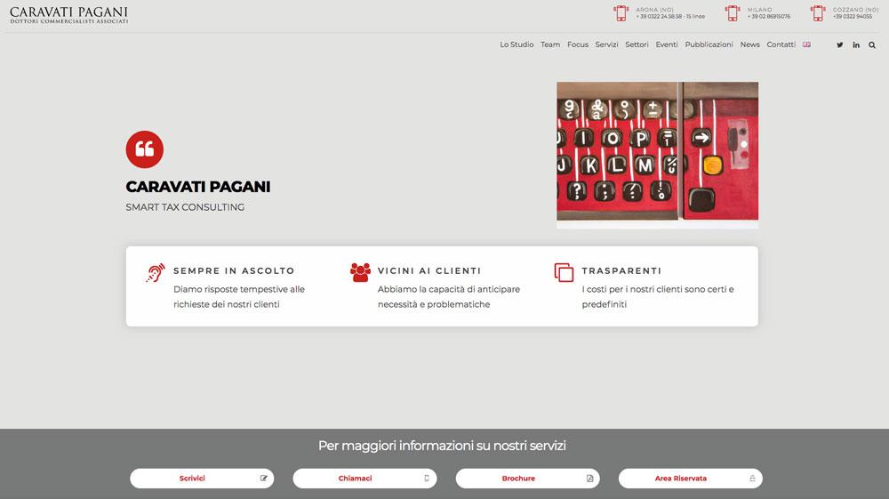 Sito Web CARAVATI PAGANI - Akira Digital