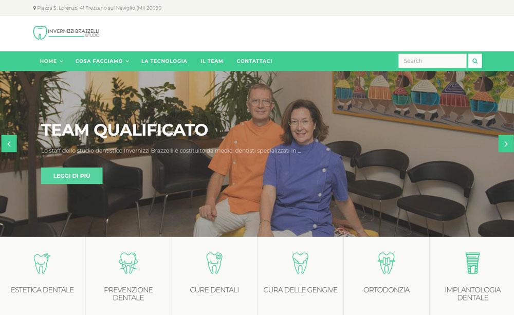 Sito Web Studio dentistico Invernizzi Brazzelli - Akira Digital