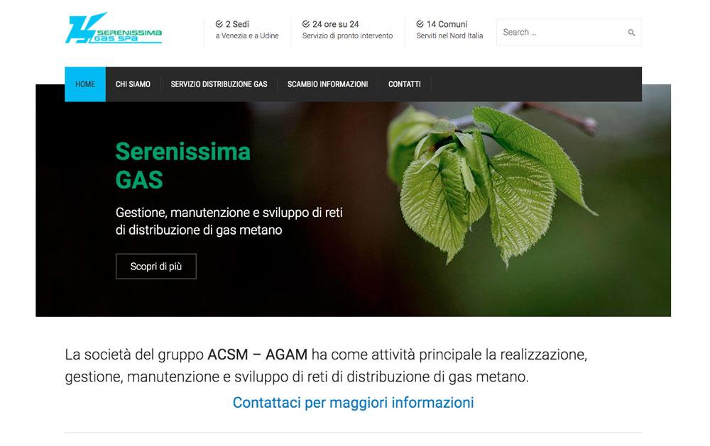Sito Web Serenissima Gas - Akira Digital