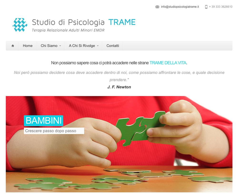 Sito Web Studio Psicologia Trame - Akira Digital