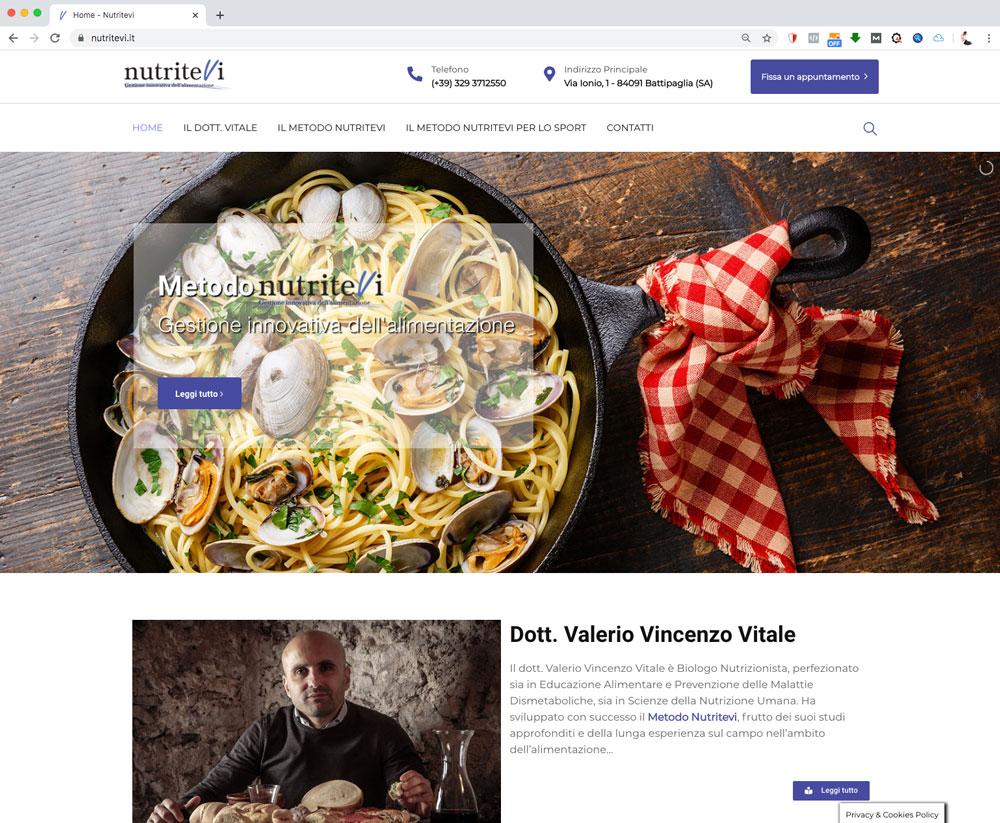 Nutritevi - Valerio Vitale website - Akira Digital Srl